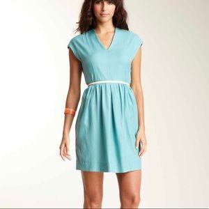 Turquoise retro style dress
